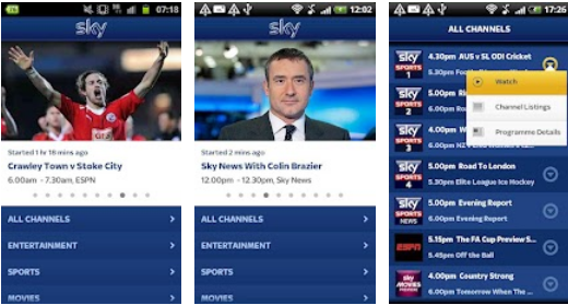 Screenshot 17 Sky Go arrives on a limited range of Android devices, and with no ICS support