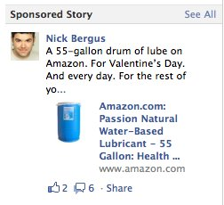 amazon1 Facebook made this guy a spokesperson for personal lubricant
