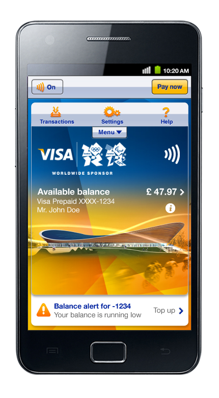 image002 Samsung and Visa reveal payWave, the official London Olympics NFC payment app
