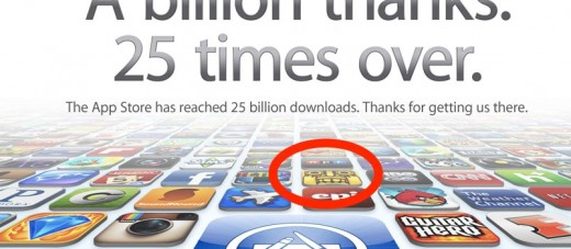 Apple iTunes 25 Billion App Countdown 520x227 Hugely popular iOS game Temple Run is now available for Android