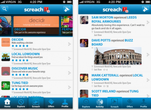Screach1 520x379 Interactive experiences app Screach broadens its reach with new social features