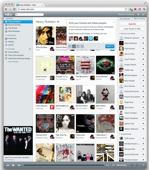 Screen Shot 2012 03 13 at 9.57.08 AM 520x596 Rdio now has 15 million tracks, launches new design with a focus on discovery and sharing