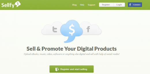 Screenshot 12 520x256 Sellfy lets you sell your digital goods through Twitter and Facebook