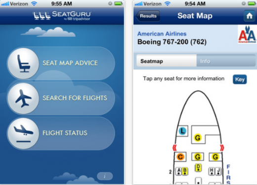 Screenshot 18 520x376 SeatGuru launches on iPhone. Now you can secure the most leg room on your flight from anywhere.