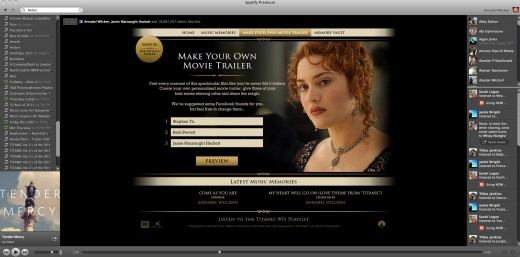 Titanic Trailer1 520x257 Titanic 3D: Spotify launches its first advertiser page across Europe with 20th Century Fox