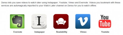 denso sharing options 520x150 Denso makes video on mobile organised, social and fun; think Flipboard for video but better