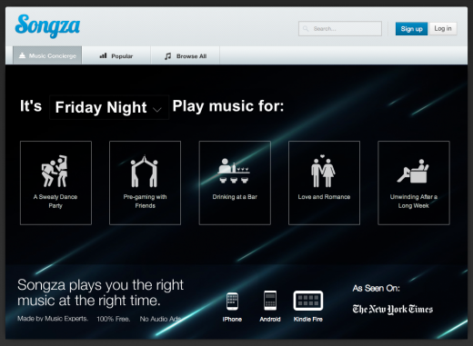 friday night 1 520x381 Spotify, we need a break. Im falling for Songza