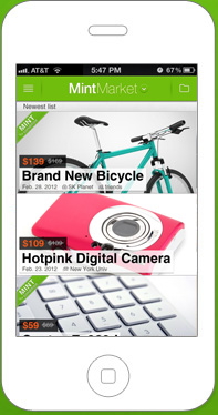 iphone2 Mint Market: A Niche, mobile marketplace to buy & sell anything like new