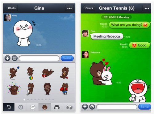 line screenshots Japanese mobile calling app Line passes 20 million users, takes aim at Skype with PC plans
