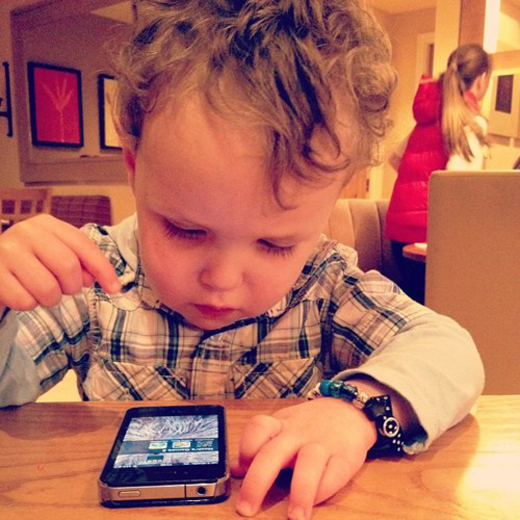 matt brians kid with phone Baby got tech: Todays children growing up in a world of gadgets