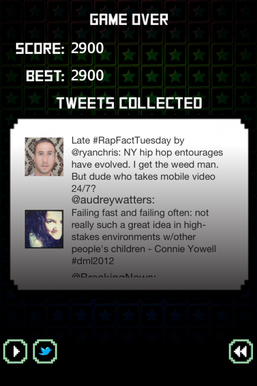 photo14 520x780 Social Break turns reading your Twitter feed into an old school video game