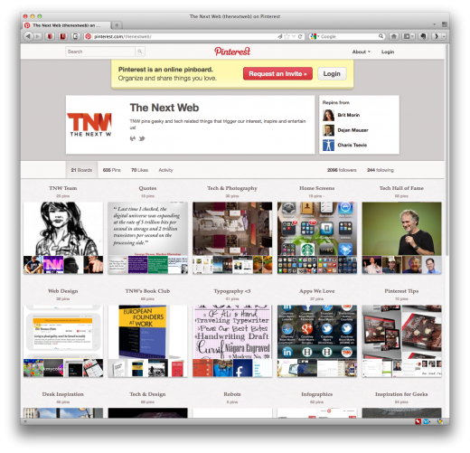 pinterest tnw 520x5012 Survey: 21% of users on Pinterest have purchased an item that they found on the site