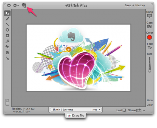 skitch 520x423 Popular screengrab tool Skitch for Mac finally gets Evernote sharing feature