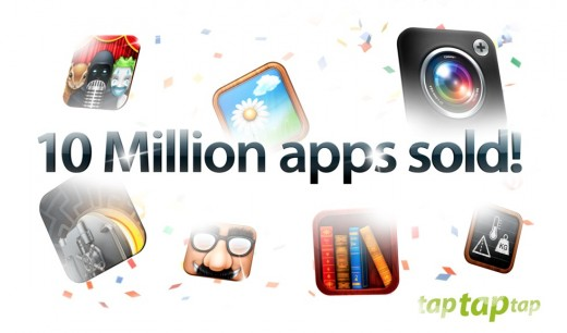 taptaptap10Million 520x306 Camera+ creators tap tap tap have sold 10M apps since its launch