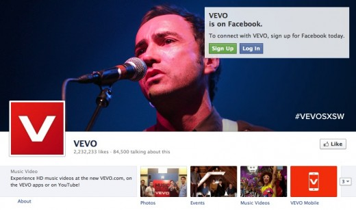 vevo fb 520x307 Vevos refresh boosted engagement; Facebook sharing up 100%, CEO says