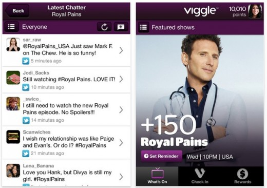 viggle 4 520x366 Second screen app Viggle offers rewards, lures over a quarter million users