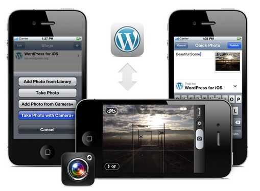 wordpress for ios1 WordPress bloggers with iPhones can now publish photos direct from Camera+