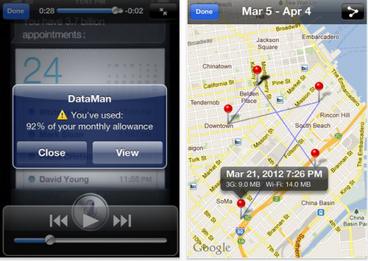 22 520x368 DataMan for iPhone lifts the lid on your data hungry apps and tells you when you hit your monthly limit