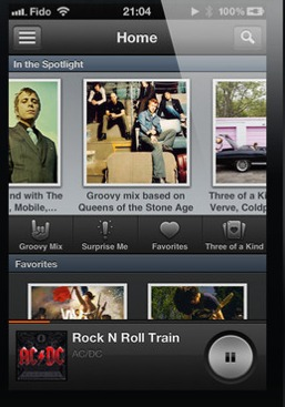 A Groove 2: An iOS music player and your own personal DJ