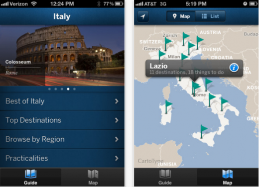 Italy 520x376 Lonely Planet finally launches country guide apps, kicking off with 6 iOS editions