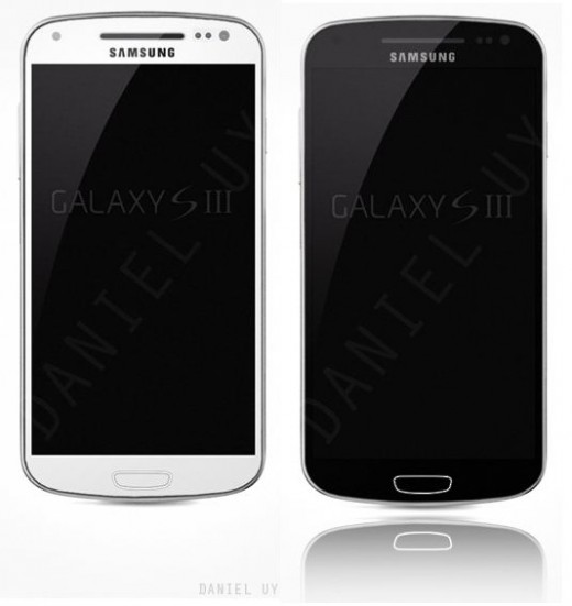SGS3 White Black 520x551 Purported Samsung Galaxy S III photo leaks, draws parallels with leaked manual diagrams