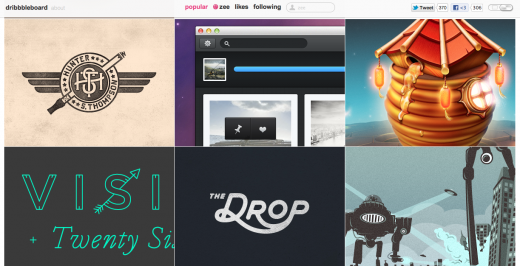 Screen Shot 2012 04 17 at 6.09.45 PM 520x266 Dribbbleboard: A new way to browse Dribbble for design inspiration
