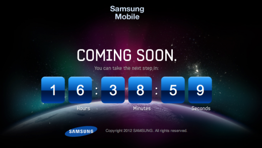 Screen Shot 2012 04 22 at 19.20.58 520x294 Samsung begins teasing Galaxy S III launch with countdown on cryptic teaser site