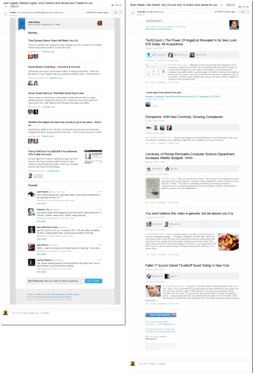 Twitter using Summify Comparison 520x764 New Twitter email summaries may be the first sign of Summify at work