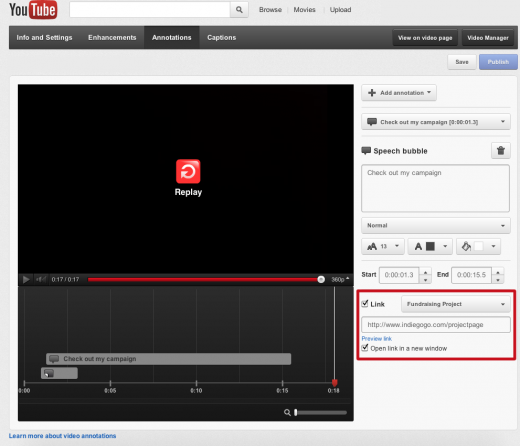 annotations screenshot 520x446 YouTube now lets you direct annotations to Kickstarter and Indiegogo projects