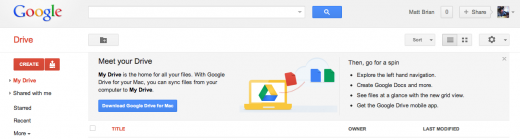 drive 520x139 Google Drive is live, completely replaces Google Docs. Dont call it a Dropbox killer.