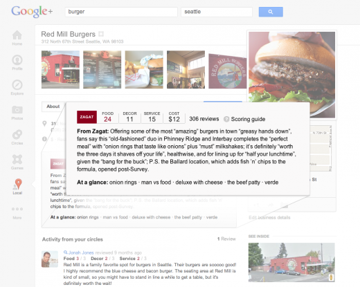 4 access detailed zagat 520x415 Google overhauls its local search experience with Google+ Local, featuring Zagat scores