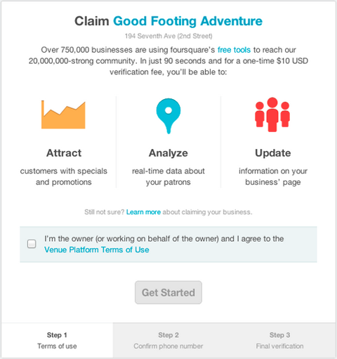 Claim1 Foursquare expands its instant venue verification process globally