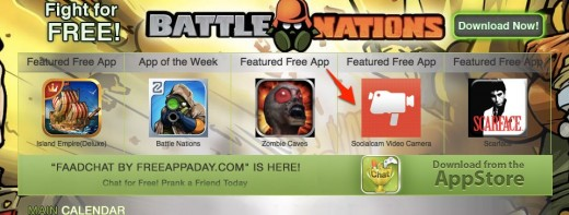 Free App A Day The best paid apps for free daily FreeAppADay.com  520x197 Did Socialcam buy its way to the #1 app store spot by using FreeAppADay?