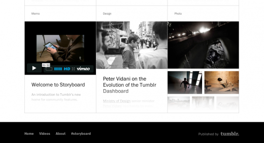 Screen Shot 2012 05 07 at 10.29.56 AM 520x282 Tumblrs editorial hires lead to Storyboard, a hub to feature creative users