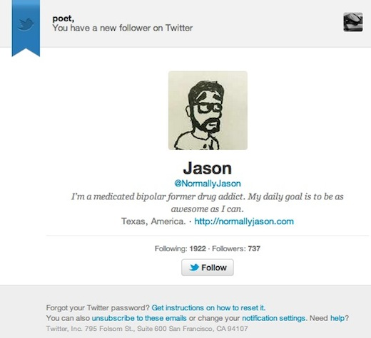 Screen Shot 2012 05 29 at 12.06.00 PM Twitter begins gradual rollout of new profile centric Follower email notifications