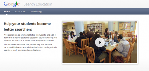 Screenshot 1 520x249 Google launches Search Education site for teachers, covering lesson plans and classroom activities