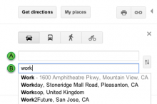Work 220x146 Google finally adds ability to save home and work locations to Google Maps