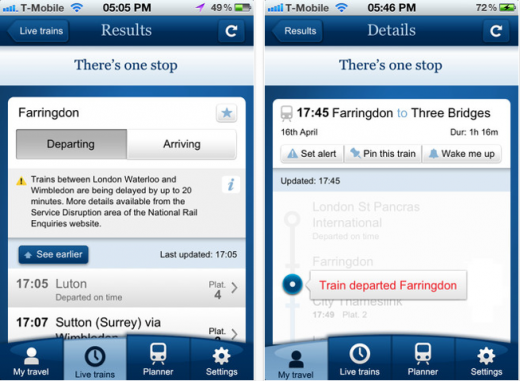 b 520x381 National Rail Enquiries launches real time mobile apps for UK travelers