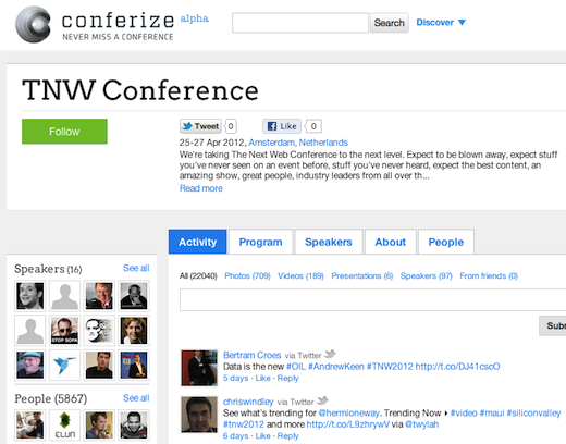 confer Conferize aims to reinvent conferences, quietly exits stealth mode