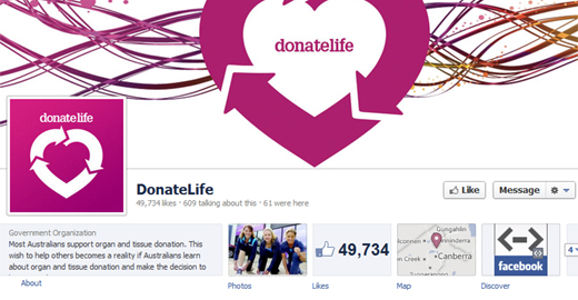 donate life Facebooks organ donor feature rolls out in Australia