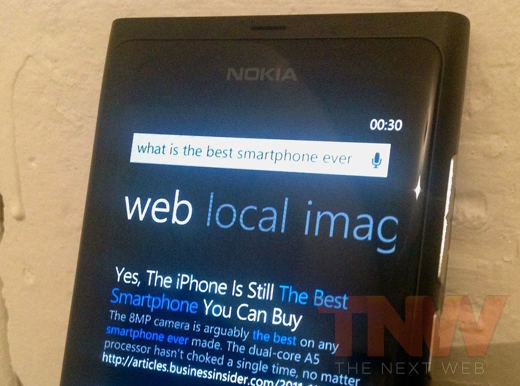 lumihahaha Guess what happens when you ask the Nokia Lumia what the best smartphone ever is