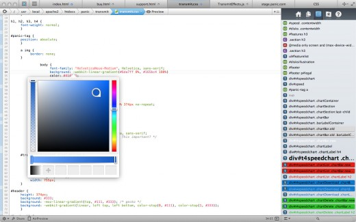 shot4 520x325 Panic launches two new Web development apps: Coda 2 for Mac and Diet Coda for iPad