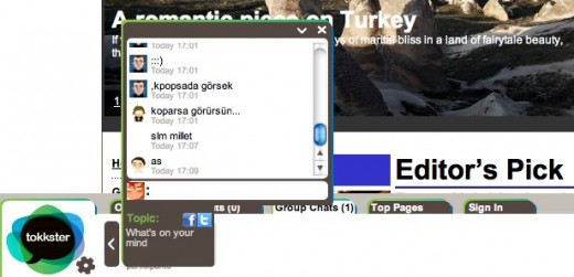 tokkster chat window 520x251 Tokksters widget could bring chatrooms to every site