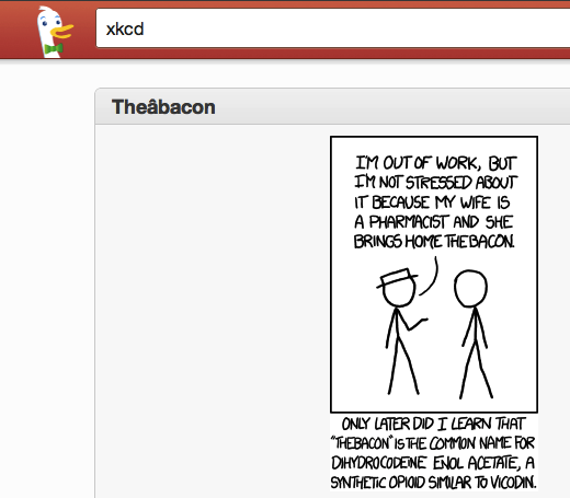 xkcd 5 geeky tricks that make us appreciate search engine DuckDuckGo even more