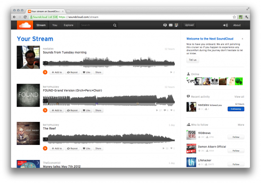y l jljukjl sluwtldy y 520x365 SoundCloud announces Next version of its site, hits 15M users
