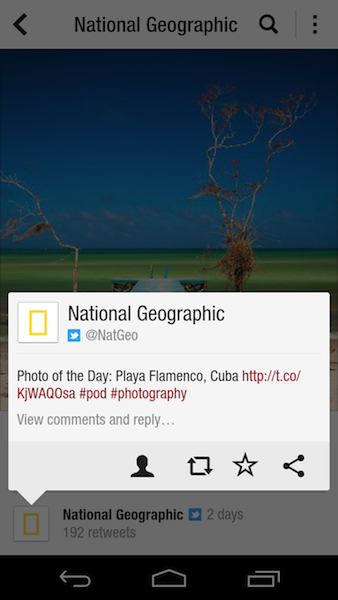 1280 natgeo tweet android Flipboard comes to Android, bundles with Samsungs Galaxy S III and gets Google+ and YouTube tie ins