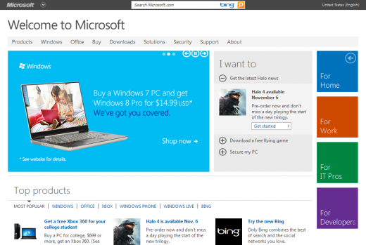 2012 06 29 14h39 25 520x349 Say hello to Microsoft.coms new look   Preview or not, we like what we are seeing