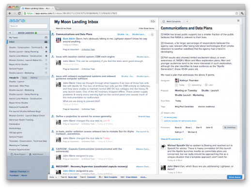 Asana Inbox screenshot final 520x391 Task management startup Asana launches Inbox, believes it will cut down your email time by up to 50%