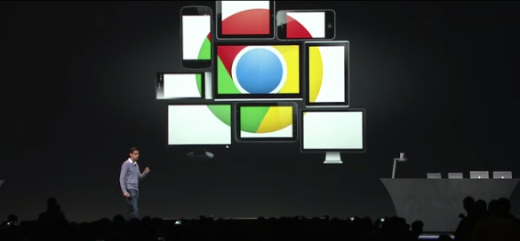 Chrome on stage