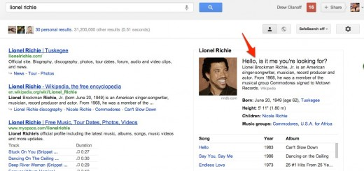 Convo 42 520x245 Fun with Knowledge Graph: Go Google Lionel Richie right now